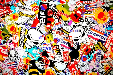 wall paper sticker sticker bomb wallpapers made hq sticker bomb