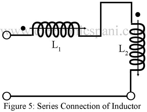 series of inductors dot convention inductor in series and parallel electronics tutorials