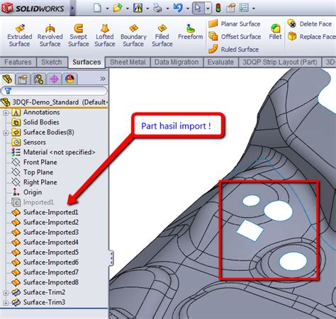 tutorial solidworks indonesia tutorial solidworks indonesia editing surface model di