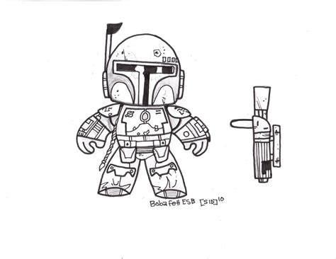 free coloring pages of boba fett