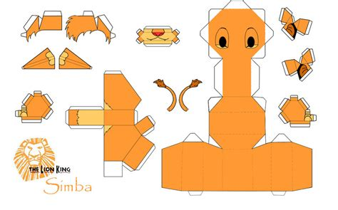 Papercraft Animals Free - simba papercraft king by arcelian on deviantart