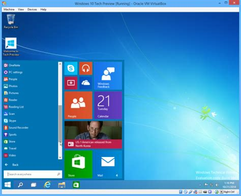 install windows 10 as virtual machine how to install windows 10 technical preview as a virtual