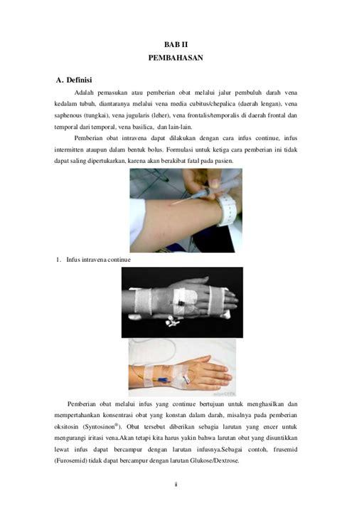 Selang Infus Obat pemberian obat melalui selang intravena