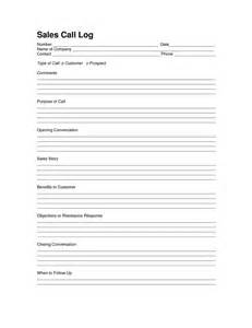 Sales Log Sheet Template by Sales Log Sheet Template Sales Call Log Template Call