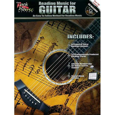 rock house music rock house reading music for guitar an easy to follow method for reading music book