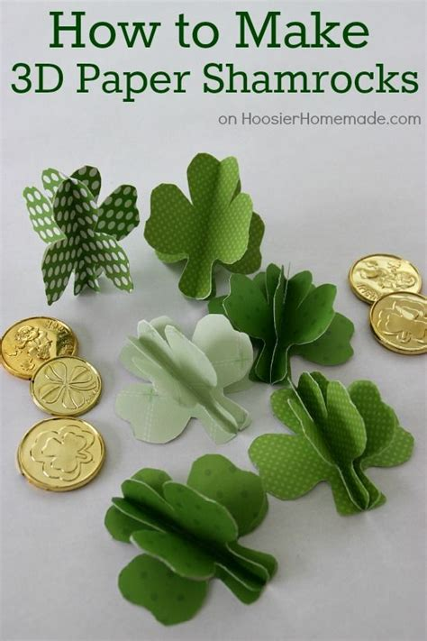 How To Make Paper Shamrocks - crafting kid lunches and 3d paper on