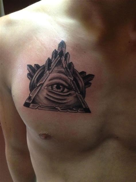 triangle tattoo on lips chest 20 triangle tattoos on chest