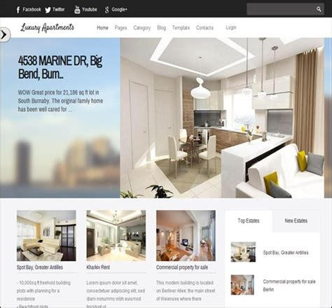 Apartment Website Templates Free 20 Top Real Estate Website Templates Make A Difference