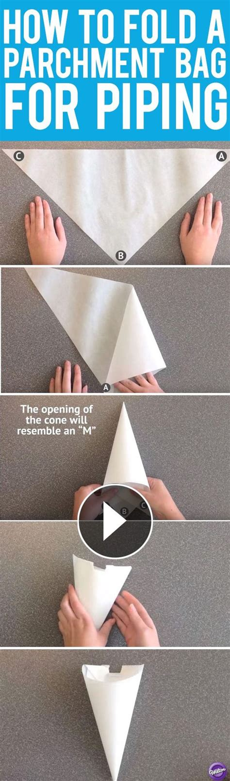 How To Make A Piping Bag From Baking Paper - learn how to make a piping bag out of parchment paper