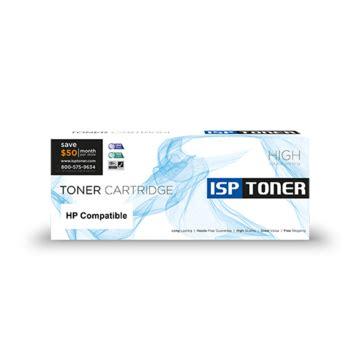 Toner Hp Cb540a Crg116bk Ce320a Cf210a Black Compatible isp toner supply