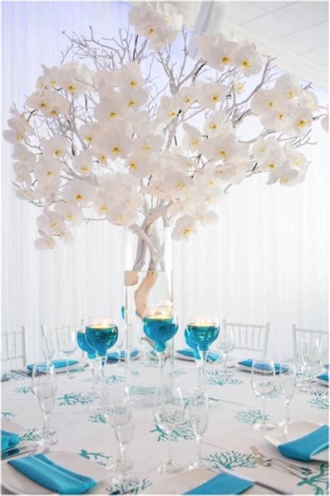 lovely white orchid centerpiece