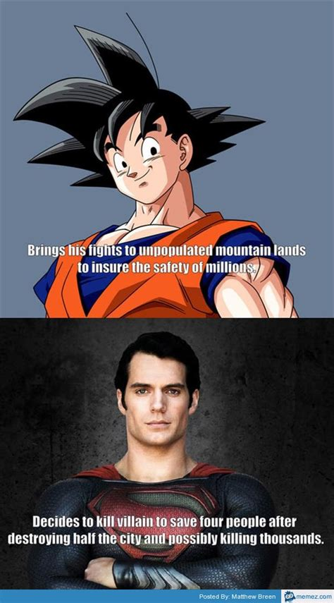 Super Man Meme - goku vs superman