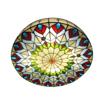 stained glass ceiling light covers 16 inch shade peacock stained glass 3 light