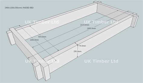 Railway Sleeper Dimensions by Slot Together Oak Raised Bed Kit Rectangular