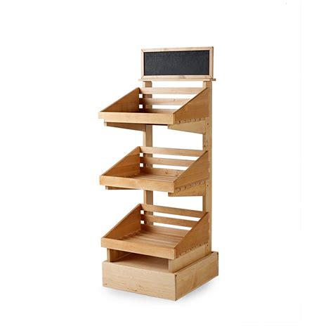 sp085 3 tier wooden display stand