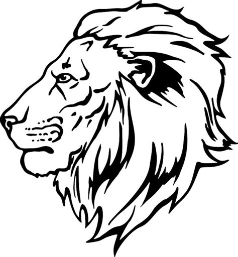 coloring page lion face lion head drawing for kids clipart best