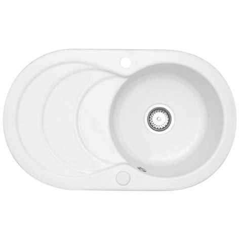 astracast kitchen sinks astracast cascade 1 0 bowl gloss white ceramic kitchen