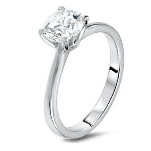 Gold Name Ring 1 24 Carat Solitaire Diamond Ring Diamondland