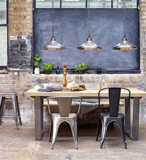 17 best ideas about industrial dining rooms on