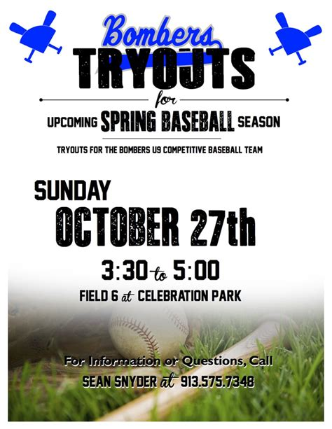 Baseball Tryout Flyer Template
