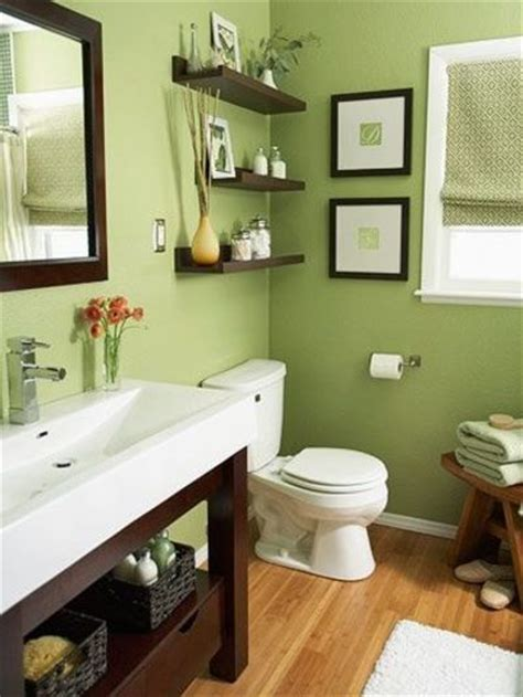 Green And Brown Bathroom » Home Design 2017