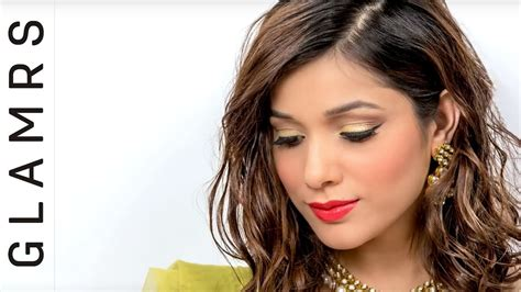 Eyeliner Tutorial Glamrs   easy golden metallic eye makeup tutorial glamrs makeup