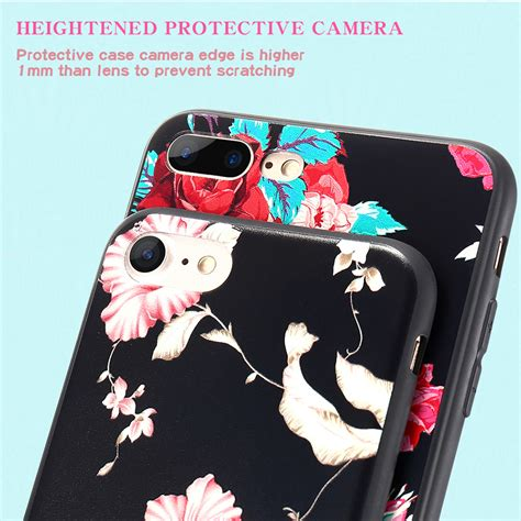 Relief I Phone 7plus Adventure floveme 3d relief printing flower soft tpu for iphone