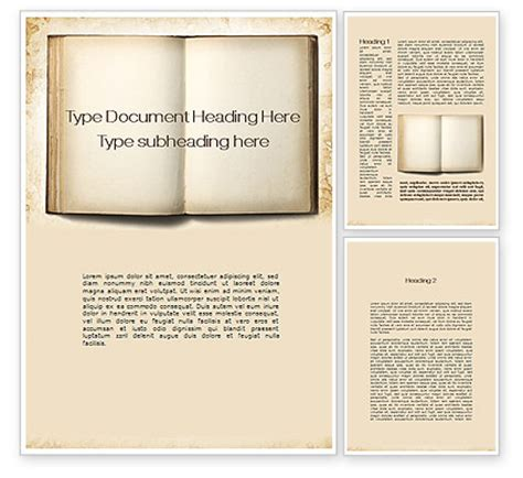 templates for word book old book word template 10151 poweredtemplate com