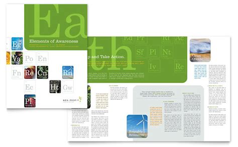brochure template environmental environmental agricultural non profit brochure template