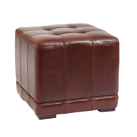 leather cubes ottomans leather cube ottoman ballard designs
