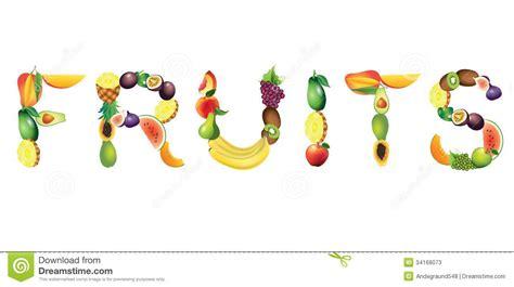 fruit 5 letter word fruits word vector illustration stock image image of