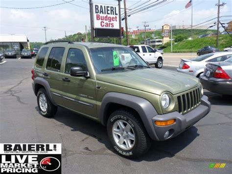2003 green jeep liberty 2003 cactus green pearl jeep liberty sport 49798926