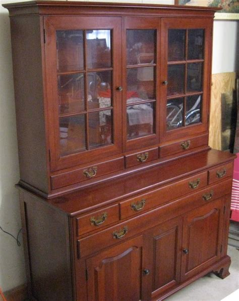 Cherry Hutch Cabinet large impressive willett solid cherry hutch cupboard cabinet