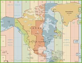 time zone map for america america time zone map
