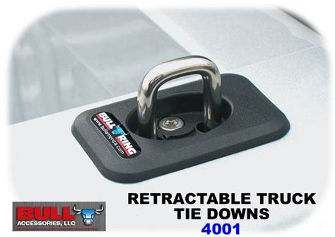 truck bed tie downs bull ring 4001 retractable truck bed tie down anchors