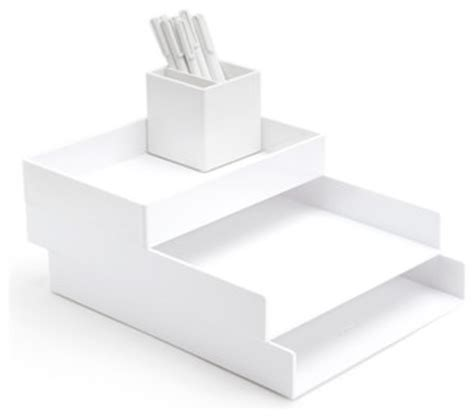 white desk accessories desktop set white modern desk accessories