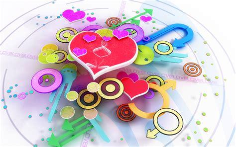 wallpaper 3d abstract love love 3d wallpaper 98373