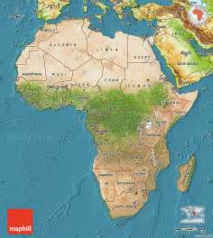Map Of Africa Physical Features by Satellite Map Of Africa Physical Outside Satellite Sea