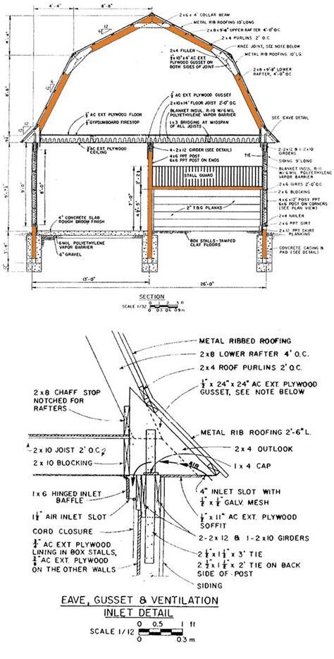 gambrel horse shed plans blueprints  big