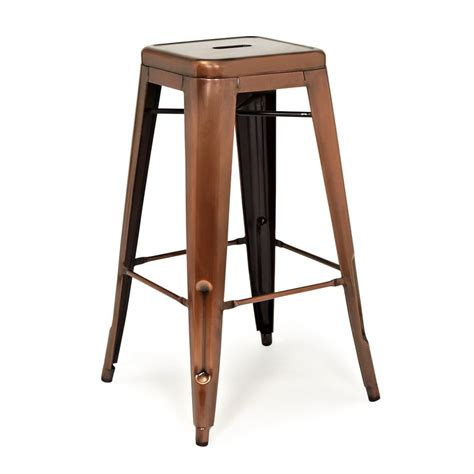 Copper Metal Bar Stools by Xavier Pauchard Metal Copper Stool Availble In 65cm