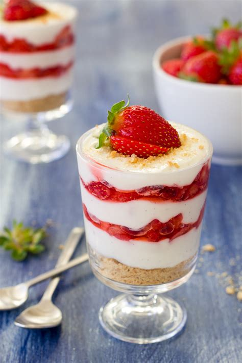 Light Kitchen Ideas by Lightened Up Strawberries And Cream Parfaits
