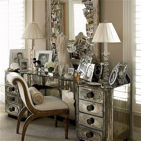 glam mirrored vanity stool glam bedroom pinterest stylish home mirrored furniture