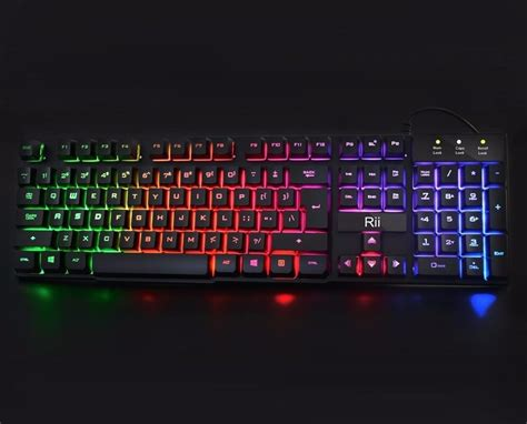 Large Light Up Gaming Keyboard Blue Red Mechanical Like