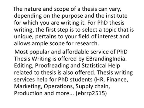 phd dissertation writing help phd thesis writing help india