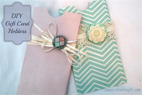 Homemade Gift Card Holder - diy gift card holder canary street crafts