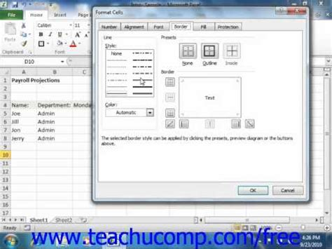 excel 2010 complete tutorial excel 2010 tutorial the format cells dialog box microsoft