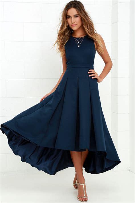 Dress Prema Navy Hs lovely navy blue dress high low dress formal dress 82 00
