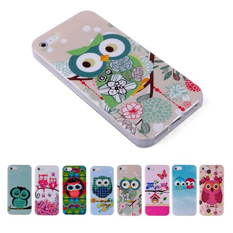 Soft Owl Iphone 5s for iphone 5s cases owls animal soft tpu gel cover for iphone 5 5s 4 4s ip 6