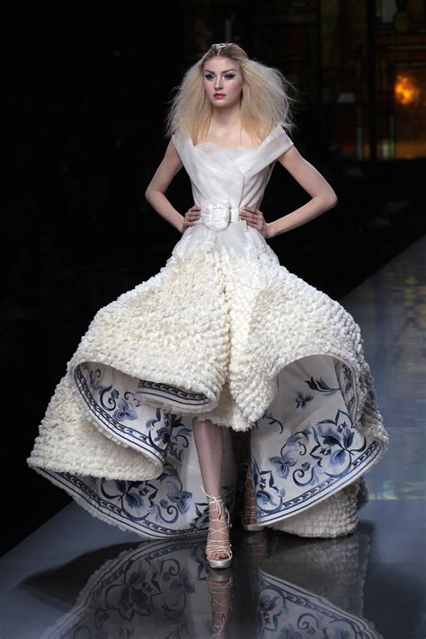 The Couture by Blue And White Fashion And Albert Museum