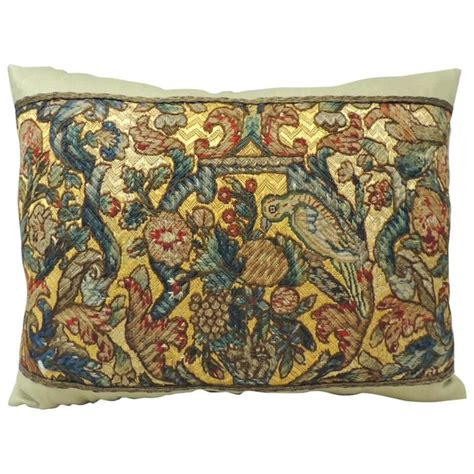 Needlework Pillows by Italian Needlework Tapestry Bolster Pillow For Sale At 1stdibs